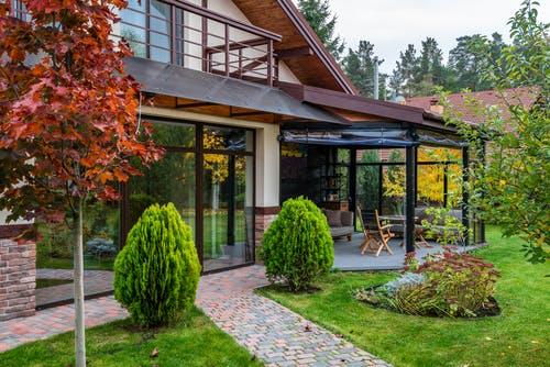 dům, zahrada